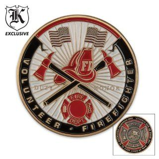 BudK Volunteer Firefighter Challenge Coin Health & Personal Care