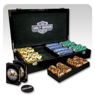 Harley Davidson Pin up Poker Set   Poker Accessories