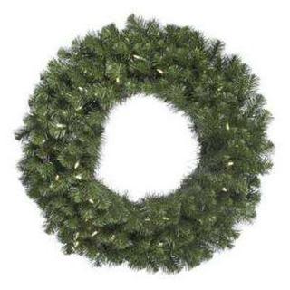 Vickerman Douglas Fir Pre Lit LED Wreath   Warm White Lights   Christmas Wreaths