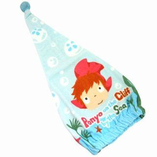 "Ponyo ""Awa Puku / 441 833"" cap towel on the Cliff (hair dry towel) Ghibli Character Goods (japan import): Toys & Games"