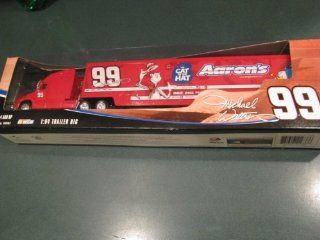 2004 Michael Waltrip #99 Aaron's The Cat in the Hat Special Paint Scheme Monte Carlo 1/64 Scale Hauler Tractor Trailer Truck Semi Rig Transporter 1/64 Scale Metal Cab Tractor Plastic Trailer Winners Circle: Toys & Games
