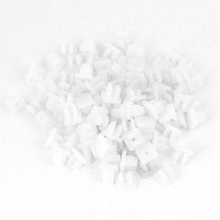 Car Plastic Rivets Fastener Door Clips White for 7.8 x 6.8mm Hole 100pcs: Automotive