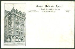 Saint Andrew Hotel Edinburgh Scotland postcard 190?: Entertainment Collectibles