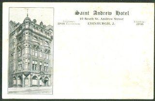 Saint Andrew Hotel Edinburgh Scotland postcard 190?: Entertainment Collectibles