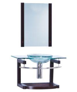 Yosemite Home Decor 32 in. Single Bathroom Vanity Set   Black Trim   Single Sink Bathroom Vanities