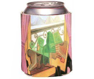 Rikki KnightTM Juan Gris Art Open windows with Hills Design Drinks Cooler Neoprene Koozie Kitchen & Dining