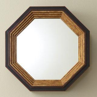 Mini Octagonal Wall Mirror   Red/Gold   10W x 10H in.   Wall Mirrors