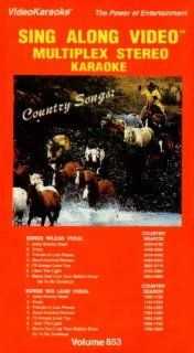 Sing Along Video Multiplex Stereo Karaoke: Country Songs   Achy Breaky Heart, Crazy, Friends in Low Places, Good Hearted Woman, I'll Always Love You, I Saw The Light, Mama Don'e Let Your Babies Grow Up To Be Cowboys (Volume 853): Movies & TV