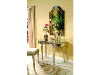 Borghese Mirrored Small Vanity   Home Office Desks