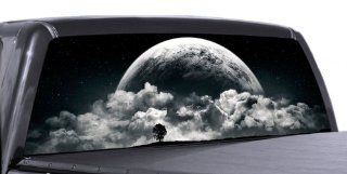 VuScapes   FULL MOON RISING   Rear Window Truck Graphic   decal suv view thru vinyl Automotive