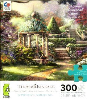 """Thomas Kinkade Painter of Life Inspirations Series """"A Friend loves at all times"""" 300 Oversized Piece Jigsaw Puzzle MADE IN USA Puzzle Toys & Games"""
