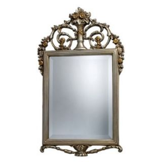 Stewart Antique Arched Silver & Gold Wall Mirror   18W x 31H in.   Wall Mirrors