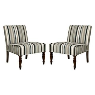 ... AngeloHOME Bradstreet Chair Mid Century Black Stripe Set Of 2 Accent ...