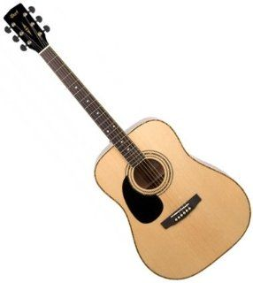 NEW CORT AD880 LH NAT LEFT HANDED LEFTY NATURAL ACOUSTIC GUITAR: Musical Instruments