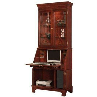 Jasper Cabinet 880 01 Sterling Computer Secretary Desk with Hutch   Home Office Desks