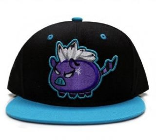 City Hunter Cf1507a Mad Pig Character Cartoon Snapback Cap (Black/turquoise ) at  Men�s Clothing store