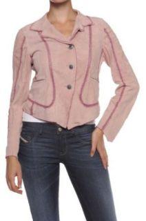 Cristiano di Thiene Collezione Leather Jacket MIA BLAZER, Color: Old Rose, Size: 38 at  Women�s Clothing store