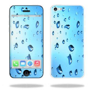 MightySkins Protective Vinyl Skin Decal Cover for Apple iPhone 5C Sticker Skins Water Droplets: Cell Phones & Accessories
