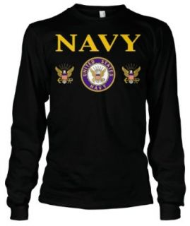 (Cybertela) United States Navy Thermal Long Sleeve T shirt Country Pride Tee Clothing