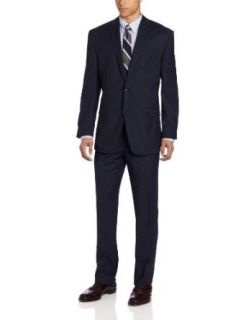 Calvin Klein Men's Navy Stripe Slim Fit Suit at  Men�s Clothing store