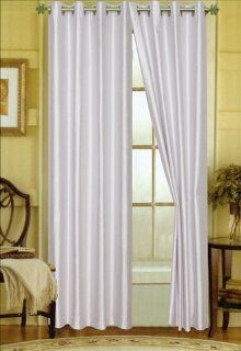 Editex Home Textiles Elaine Grommets Window Panel, 58 by 84 Inch, Silver   Window Treatment Vertical Blinds