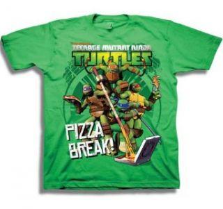 Teenage Mutant Ninja Turtles TMNT Pizza Break Cartoon Juvenile T Shirt Tee Clothing