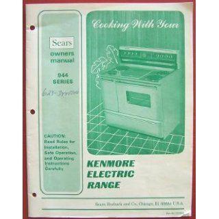 Kenmore Electric Range  Owners Manual 944 Series  Books