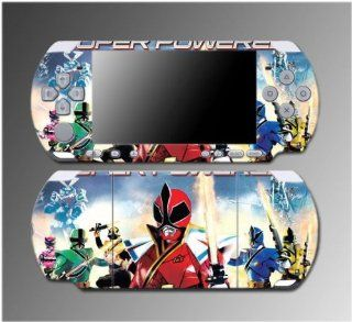 Power Rangers MMPR Super Samurai Video Game Vinyl Decal Sticker Cover Skin Protector #5 for Sony PSP Slim 3000 3001 3002 3003 3004 Playstation Portable Video Games