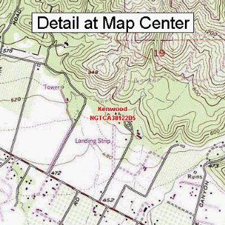USGS Topographic Quadrangle Map   Kenwood, California (Folded/Waterproof)  Outdoor Recreation Topographic Maps  Sports & Outdoors