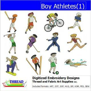Digitized Embroidery Designs   Boy Athletes(1)   CD
