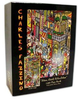 "CHARLES FAZZINO ""Return, Rebuild, ReNew Orleans 1000 Piece Puzzle (17.32"" X 35.43"" size): Toys & Games"