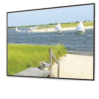 "Clarion Matt White Fixed Frame Projection Screen Viewing Area: 7' H x 6"" W: Electronics"