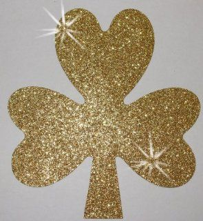Fabric Glitter Shamrock Irish St Patrick 120mm Filled Iron On Fabric Transfer