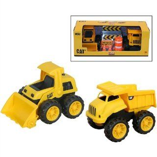 """CAT 6"""" Dump Truck & Front Loader with Accessories Toys & Games"""