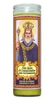 St John the Conqueror Religious Prayer Candle / Oracion A San Juan El Conquistador Novena Vigil Candle   Devotional Candles