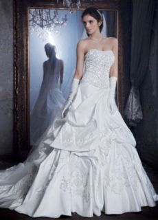 Pick Up Wedding Dress with Beaded Lace Embellished Bodice at  Women�s Clothing store