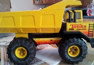 "Vintage VTG Tonka XMB 975 Turbo Diesel Dump Truck No Stickers 16"" Long"