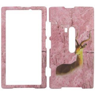 Nokia Lumina 920   Deer Camo Camouflage Pink Shinny Gloss Finish Hard Plastic Cover, Case, Easy Snap On, Faceplate.: Cell Phones & Accessories