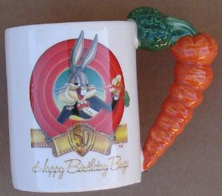 Bugs Bunny Happy 50th Birthday 1940 1990 Collector`s Coffee Cup With Box : Mugs : Everything Else