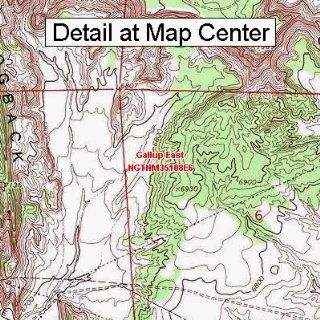 USGS Topographic Quadrangle Map   Gallup East, New Mexico (Folded/Waterproof)  Outdoor Recreation Topographic Maps  Sports & Outdoors