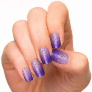 Incoco Nail Polish Strips, Purple Silver Glitter Ombre Nail Art, Perfect Prom Purple  Beauty