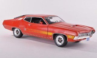 Ford Torino GT, red orange , 1970, Model Car, Ready made, ERTL American Muscle 1:18: ERTL American Muscle: Toys & Games