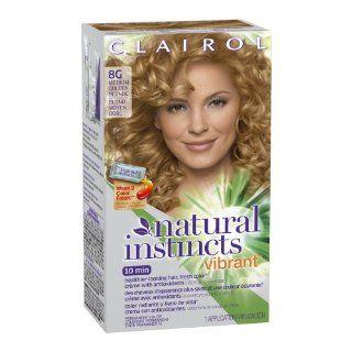 Clairol Natural Instincts Vibrant Permanent Hair Color 8g, Medium, Golden Blonde 1 Kit  Beauty