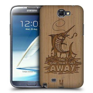 Head Case Designs Marlin Wood Carvings Hard Back Case Cover For Samsung Galaxy Note 2 II N7100: Cell Phones & Accessories