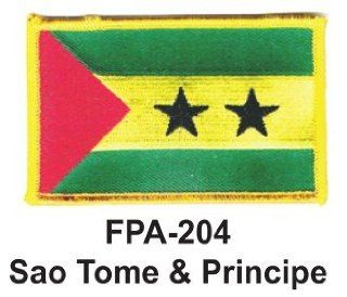 2 1/2'' X 3 1/2'' Flag Embroidered Patch Sao Tome & Principe (Officially Licensed)