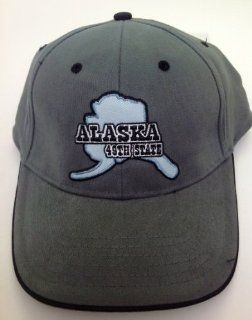 Alaskan State Shape ALASKA Steel Grey Hat Ball Cap