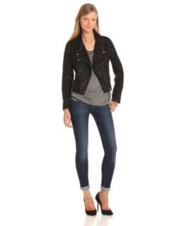 Diesel Women's Kele Lambskin Jacket at  Women�s Clothing store: Leather Outerwear Jackets