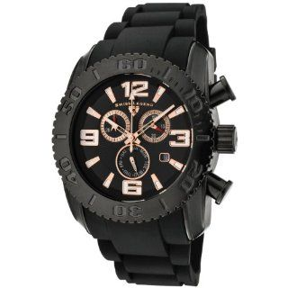 Swiss Legend Men's SL 20067 BB 01 RA Commander Collection Chronograph Black Ion Plated Rubber Watch Watches