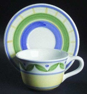 Williams Sonoma Marisol Flat Cup & Saucer Set, Fine China Dinnerware: Drinkware Cups With Saucers: Kitchen & Dining