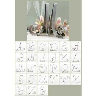silver monogram wedding cake topper a z cake letter Decorative Cake Toppers Kitchen & Dining